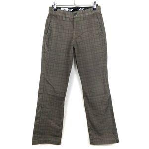 Volcom Plaid Khaki Straight Leg Pants Size 27